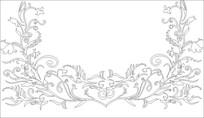 凤凰花雕刻图案