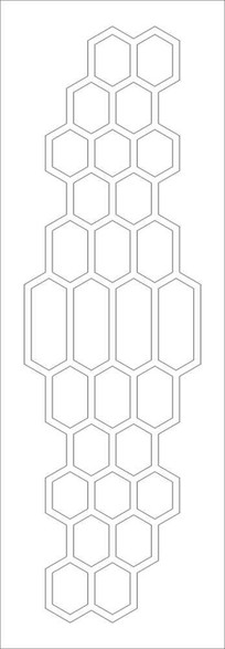 六边形雕刻图案