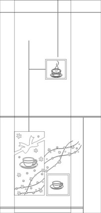 品茶雕刻图案