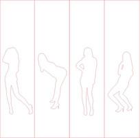 跳舞雕刻图案
