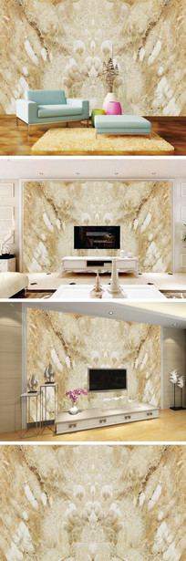 3D立体大理石背景墙