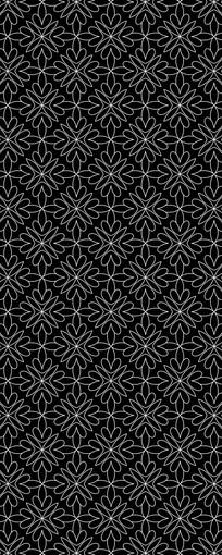 白线黑背景花纹图案