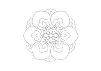 饱满花瓣雕刻纹样