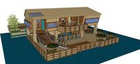 滨水度假别墅模型
