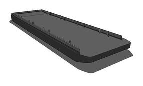 驳船SU模型