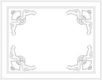 抽象蝙蝠雕刻图案