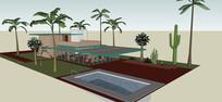 度假休闲住宅模型