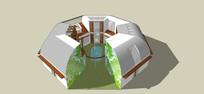 多边形特色建筑模型