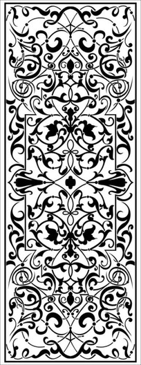 复式花纹雕刻图案