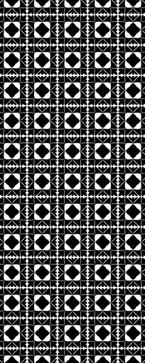 黑白伊斯兰装饰花纹