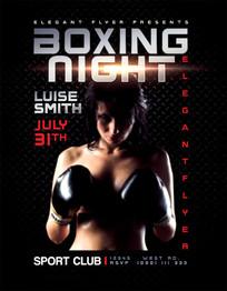 黑色大气健身拳击海报设计