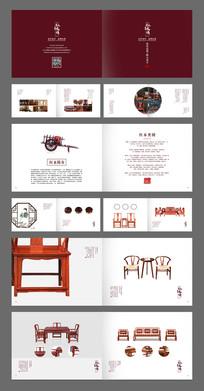 红色古典简约家具画册