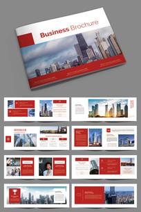 红色企业文化画册设计