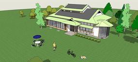 花园豪华别墅模型