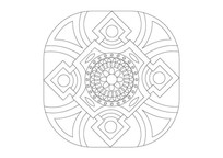 简洁大方线条组合雕刻纹样