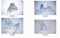 建筑风景钢笔手绘线稿