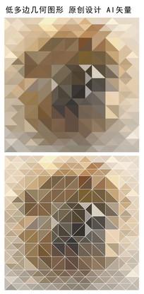咖色抽象图案矢量立体背景