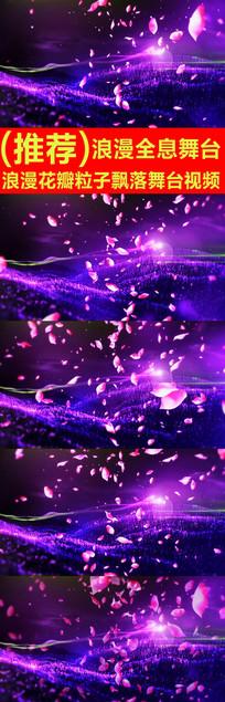 浪漫花瓣粒子飘落舞台视频