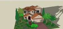 联排别墅建筑模型