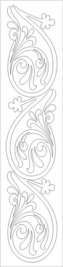 龙卷花雕刻图案
