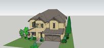民居住宅别墅模型