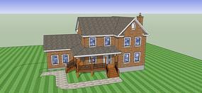 农村住宅建筑模型