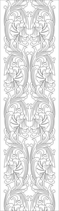 欧式花雕刻图案