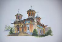 欧式建筑马克笔手绘