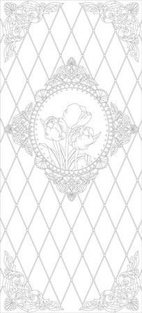 欧式镜框花纹雕刻图案
