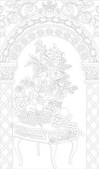 欧式奢华水果花纹雕刻图案