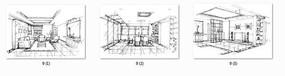 室内设计手绘线稿 JPG
