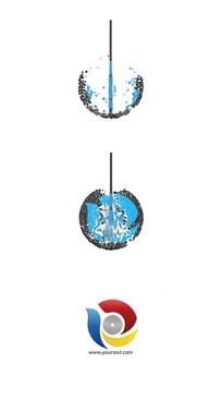 水滴汇聚集合成logo标志片头视频