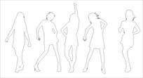 舞动人生雕刻图案