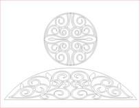 圆圈花纹雕刻图案