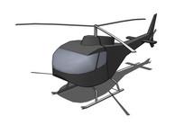 直升飞机SU模型 skp