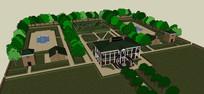 庄园式豪华别墅模型