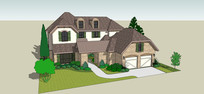 庄园式建筑模型