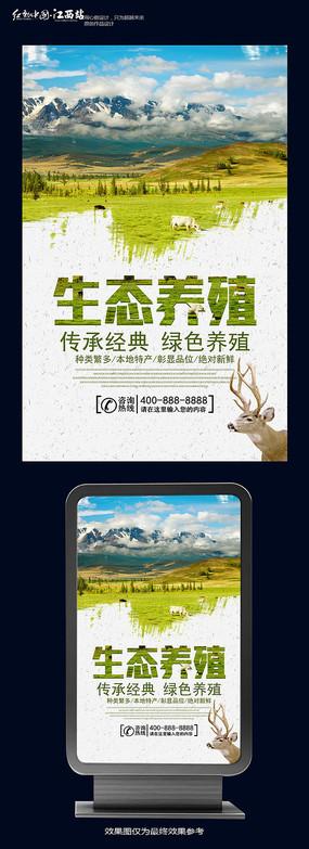 自然生态养殖海报设计