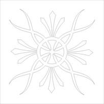 抽象蝴蝶花雕刻图案
