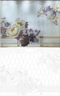 花开富贵欧式花纹雕刻图案