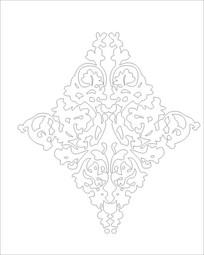 蝴蝶花雕刻图案