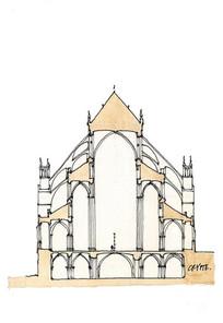 简单建筑手绘图