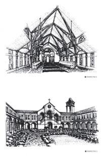 教堂建筑手绘