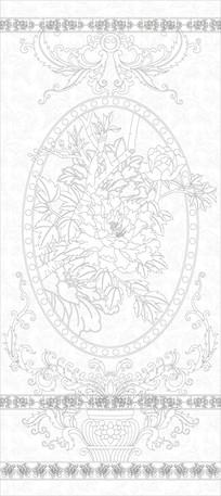 欧式花纹花卉玄关雕刻图案