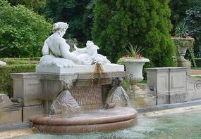 人物雕塑水景小品