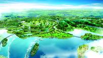 湿地公园鸟瞰图