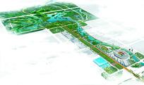 湿地景观整体鸟瞰图
