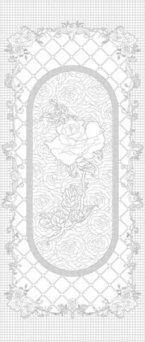 鲜花花朵欧式花纹玄关雕刻图案