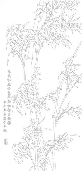 竹子玄关雕刻图案