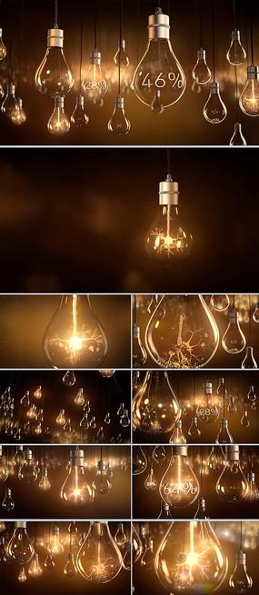 电灯泡数据统计CG视频动画